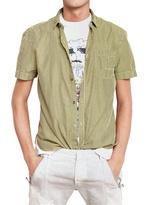 Balmain Pierre Poplin Signature Short Sleeve Shirt