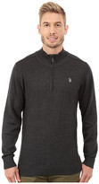 U.S. Polo Assn. 1/4 Zip Solid Sweater