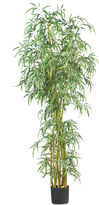 Asstd National Brand Nearly Natural 7-ft. Curved Slim Bamboo Silk Tree