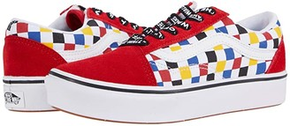 Vans Kids ComfyCush Old Skool (Big Kid) ((Checkerboard) Multi/Black) Boys Shoes