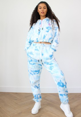 Missguided Playboy X Tall Blue Tie Dye Joggers