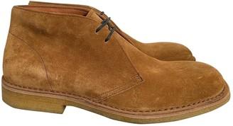 Dries Van Noten Camel Suede Boots