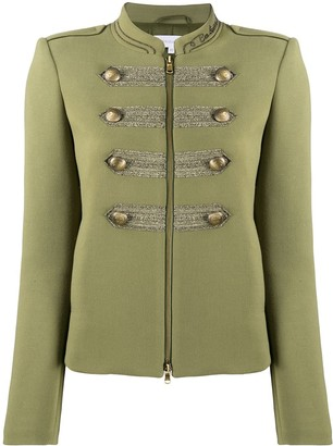 Patrizia Pepe short fitted military jacket