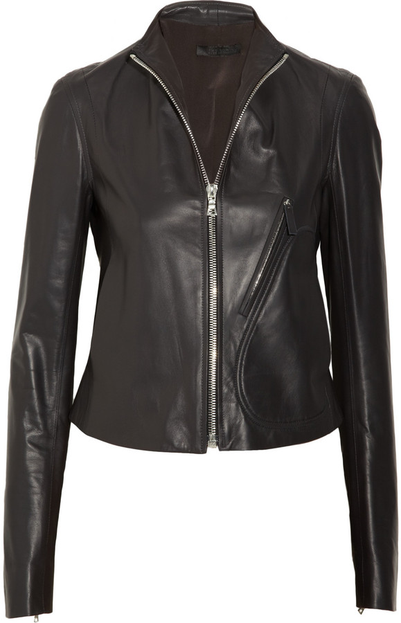 The Row Riker leather jacket