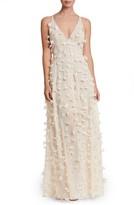 Dress the Population Women's Fleur Floral Applique Gown