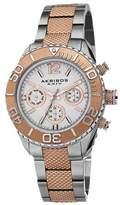 Akribos XXIV Women's AK695TTR Ultimate Swiss Quartz Multifunction Silver-tone and Rose-tone Stainless Steel Bracelet Watch