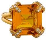 Di Modolo Soirée Diamond & Golden Quartz Cocktail Ring