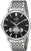 Edox Men's 85021 3M NIN Les Bemonts Analog Display Swiss Automatic Silver Watch