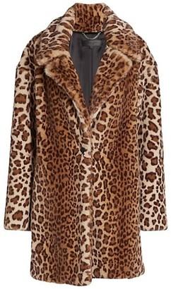 Rag & Bone Emma Leopard-Print Faux-Fur Coat