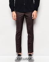 Heart & Dagger Wool Trousers In Super Skinny Fit
