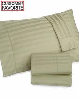 Charter Club Damask Stripe Wrinkle Resistant 500 Thread Count Pima Cotton Extra Deep Pocket Twin Sheet Set