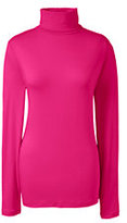 Lands' End Women's Tall Shaped Layering Turtleneck-Rich Sapphire