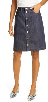 A.P.C. Therese Cotton Denim Skirt