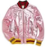 Gucci Little Girl's & Girl's Metallic Leather Bomber Jacket