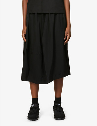 Comme Comme Des Garcons High-waisted wool midi skirt