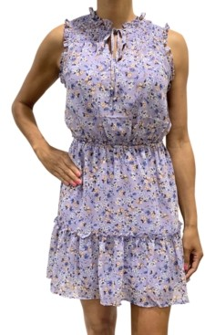 BeBop Juniors' Sleeveless Floral Dress