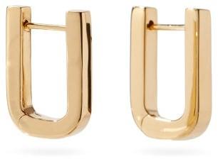 Otiumberg Square 14kt Gold-vermeil Hoop Earrings - Yellow Gold
