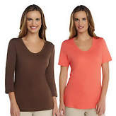 Liz Claiborne New York Essentials Set of 2 Knit T-Shirts