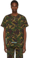 Off-White Green Camouflage Arrows T-Shirt