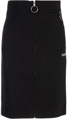 Off-White Motif Printed Pencil Skirt