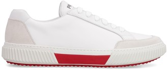 Prada Leather And Suede Sneakers