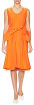 Jil Sander Pleated Bow Flare Dress