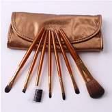 Panda Superstore Set of 7 MEGAGA Beauty Tools Makeup Brush Individuals Nylon Hair Brushes GOLD
