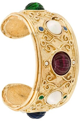 Christian Dior 1980's Pre-Owned Beaded Cuff