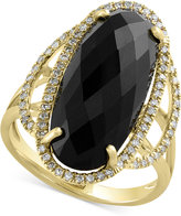 Effy Eclipse by Onyx (6-3/8 ct. t.w.) and Diamond (1/4 ct. t.w.) Statement Ring in 14k Gold