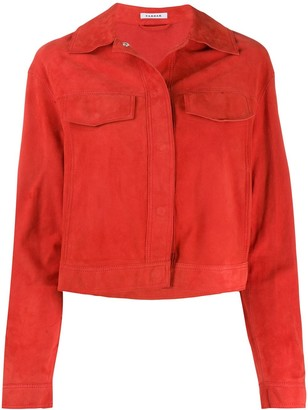 P.A.R.O.S.H. Cropped Fringed Sleeve Jacket