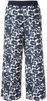 I'M Isola Marras cropped floral print trousers - women - Polyester/Spandex/Elastane/Acetate/Viscose - 40