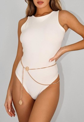 Missguided Look Snake Coin Drape Chain Belt