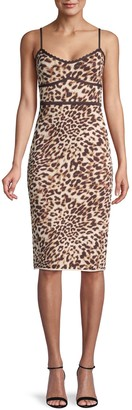 BCBGMAXAZRIA Leopard-Print Sheath Dress