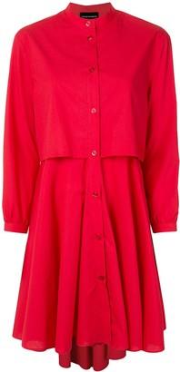 Emporio Armani Layered Shirt Dress
