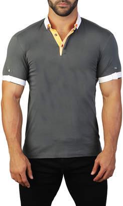 Maceoo Men's Mozart Contrast-Trim Jersey Polo Shirt