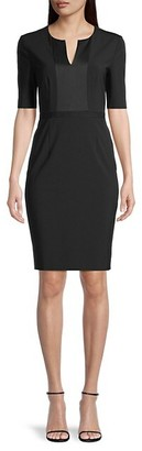 HUGO BOSS Deriba Stretch Sheath Wool Dress