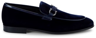 Salvatore Ferragamo Seral Patent Leather & Suede Loafers
