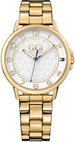 Tommy Hilfiger Gigi Hadid Women's Gold-Tone Stainless Steel Bracelet Watch 38mm 1781722