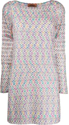 Missoni Knitted Long-Sleeve Dress