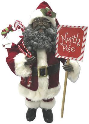 "Santa's Workshop 15"" African American North Pole Santa Figurine"