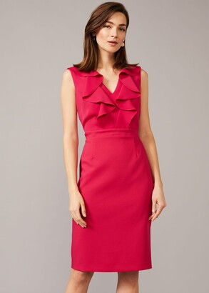 Phase Eight Linda Frill Fitted Dress