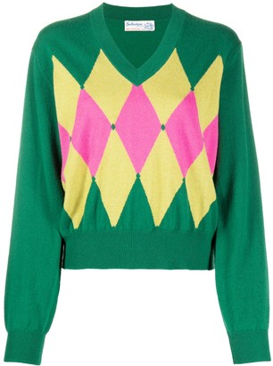 Ballantyne Argyle-detail jumper