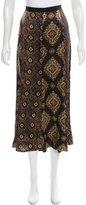 Dries Van Noten Printed Silk Skirt w/ Tags