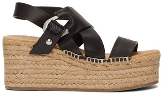 Rag & Bone Black August Platform Espadrilles