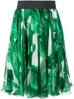 Dolce & Gabbana banana leaf print skirt
