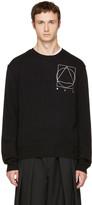 McQ by Alexander McQueen Black Glyph Logo Crewneck Sweater