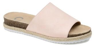 Journee Collection Celine Espadrille Slide Sandal