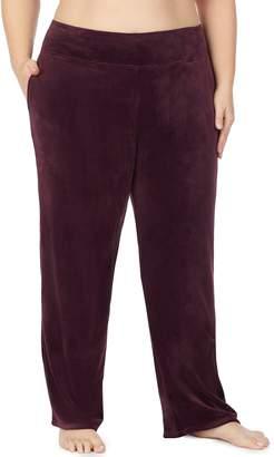 Cuddl Duds Women's Plus Double Plush Velour Lounge Pants