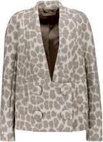 Stella McCartney Karla leopard-print wool-blend jacket
