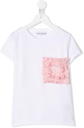 Simonetta ruffled patch stretch T-shirt